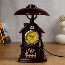Clock-lamp with alarm clock,1 AA, discrete stroke, d=6 cm