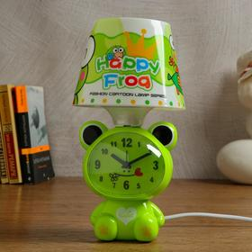 """Clock-lamp """"Merry frog"""", with alarm clock, 3 AA. from the network, discrete stroke"""