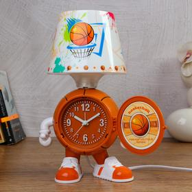 """Clock-lamp """"Basketball"""", with alarm clock, 3 AA. from the network. discrete stroke"""