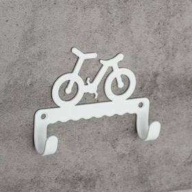 Крючок детский «Велосипед», цвет белый