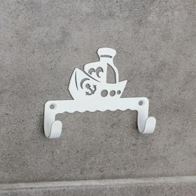 Крючок детский GALA посуда «Кораблик», цвет белый