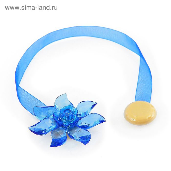 "Подхват для штор на ленте ""Ветерок"", цвет синий"