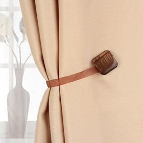 Подхват для штор «Квадрат», 4 × 4 см, цвет кофейный