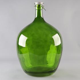 Бутыль стеклянный «GJA. Марани», 25 л, с фарфоровой крышкой с бугельным замком, цвет зелёный