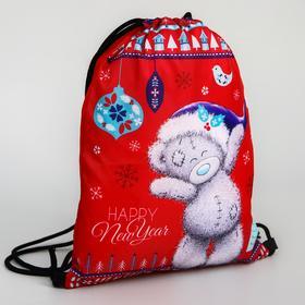 Мешок для подарков новогодний «Мишка», 21 x 0,5 x 29 см, отдел на шнурке