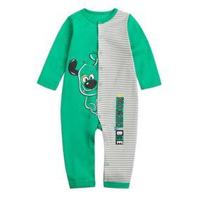 Комбинезон для мальчиков, рост 80 см, цвет зелёный