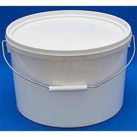 Ведро пластиковое, ВП15 (пластиковая ручка), 31,2х31,2х26,1см, белое