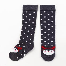 """Гольфы Крошка Я """"Пингвин"""" 10-12 см, серый"""