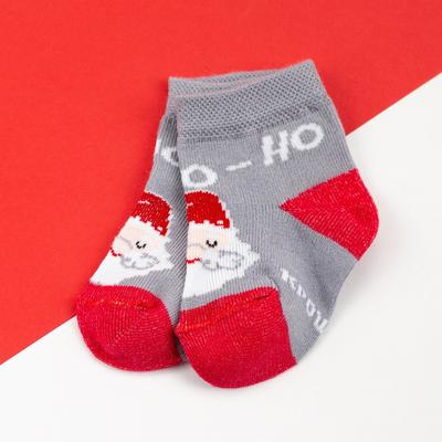 "Socks Baby Me ""Santa Claus"", gray, 6-8 cm"