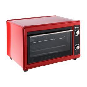 Мини-печь DELTA D-0122, 1300 ВТ, 37 л, таймер, красная