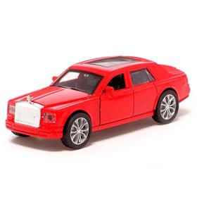 Машина металлическая «Престиж», 1:32, инерция, открываются двери, цвет красный