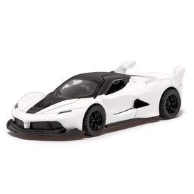 Машина металлическая «СпортКар», 1:32, инерция, открываются двери, цвет белый