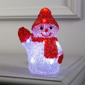 "Фигура акрил.""Снеговичок маленький"" 15х7х7 см, 2хАА (не в компл), 8 LED, БЕЛЫЙ"