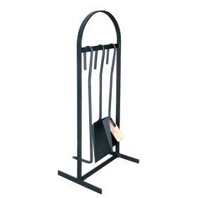 Набор для камина «НКА 01ч», 3 предмета, стойка «арка», цвет чёрный
