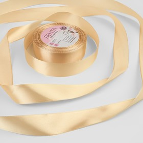 Satin ribbon No. 67 25mm*25±1 yard beige AU
