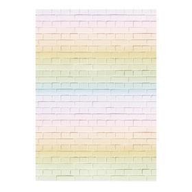 "Photophone ""rainbow brick"", 70 × 100 cm, paper, 130 g/m"