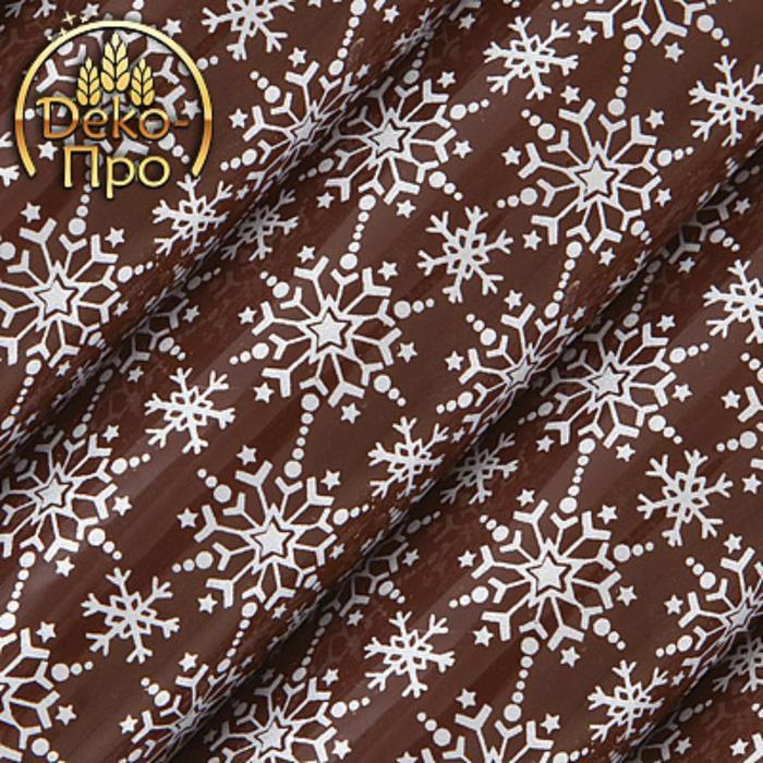 """Переводные листы """"Снежинки Белые"""" для шоколада, 250 х 400 мм, 24 шт."""