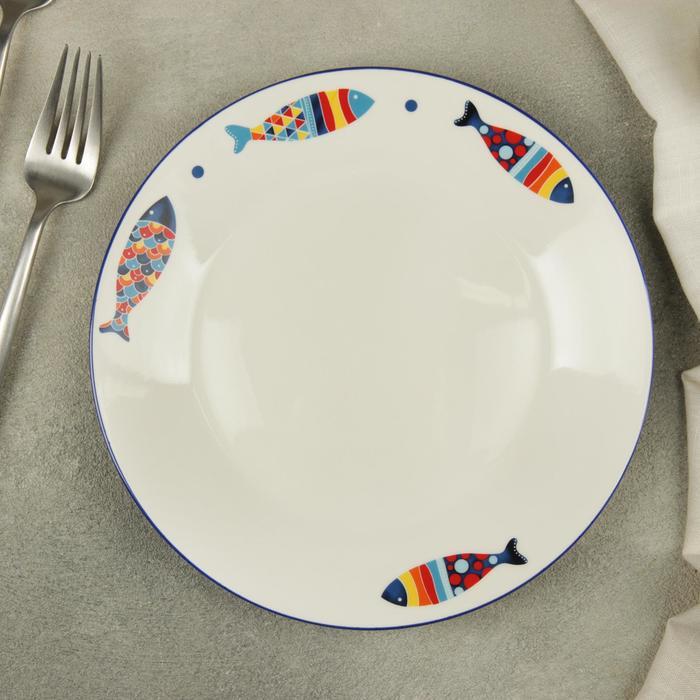 Тарелка десертная Доляна «Емеля», d=19,2 см - фото 668850