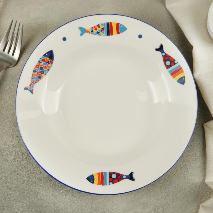 "A plate of soup ""Emelya"", 20×3,4 cm"