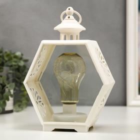 """Ночник """"Свечи"""" LED от батареек 3хААА белый 9,8х17,5х25 см"""