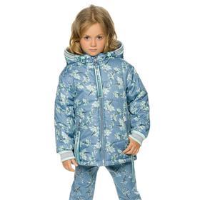 Куртка для девочек, рост 92 см, цвет джинс
