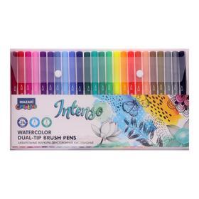A set of watercolor markers Mazari INTENSO 24col (2st. Nibs: brush and thin nib)