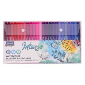 A set of watercolor markers Mazari INTENSO 72colors (2st. Nibs: brush and fine nib)