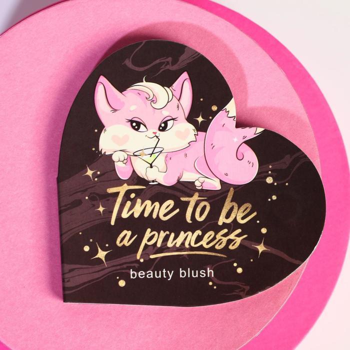 Запечёные румяна Time to be a princess, оттенок натурально-розовый