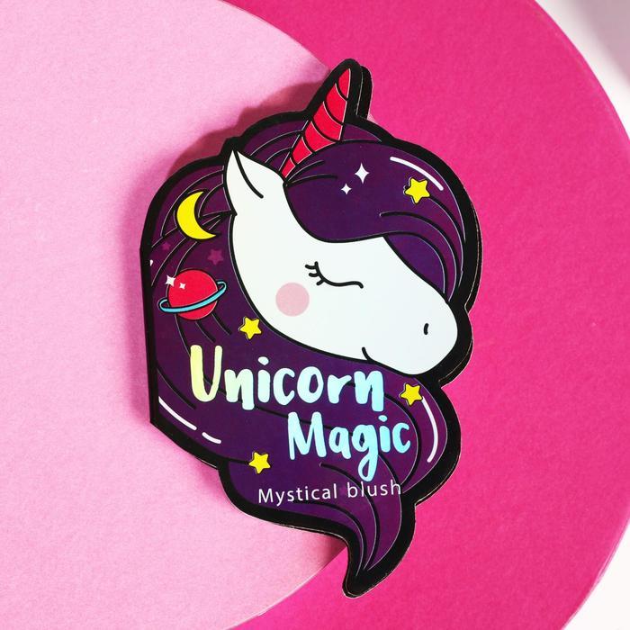 Запечёные румяна Unicorn magic, оттенок натурально-розовый