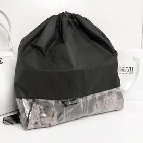 Чехол для хранения сумок с окном, 50x50 см, цвет черный