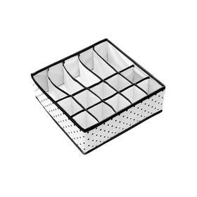 Органайзер для нижнего белья и бюстгальтеров Eco White, 10 ячеек и 5 секций, 30х30х11 см