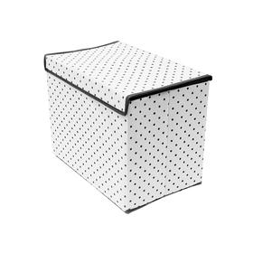 Коробка для хранения вещей с крышкой Eco White, 38х25х30 см