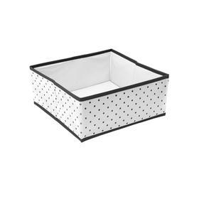 Коробка квадратная для хранения вещей Eco White, 30х30х13 см