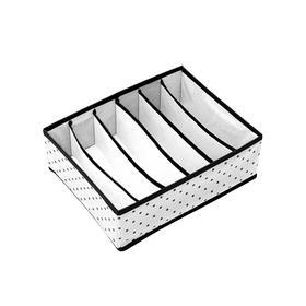 Органайзер для бюстгальтеров Eco White, 6 секций, 31х24х11 см