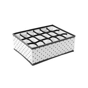 Органайзер для нижнего белья Eco White, 18 ячеек, 31х24х11 см