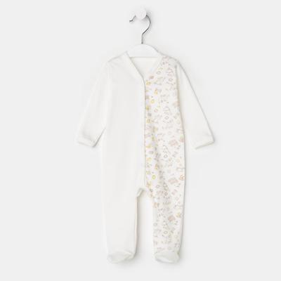 Комбинезон детский, цвет молочный, рост 56 см