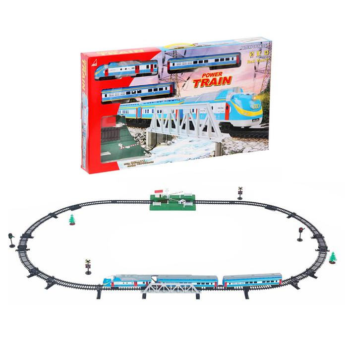 Железная дорога «Скорый поезд», работает от батареек, световые и звуковые эффекты