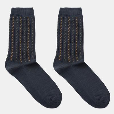 """Men's socks Collorista """"Structure"""" color.gray, size 40-46"""