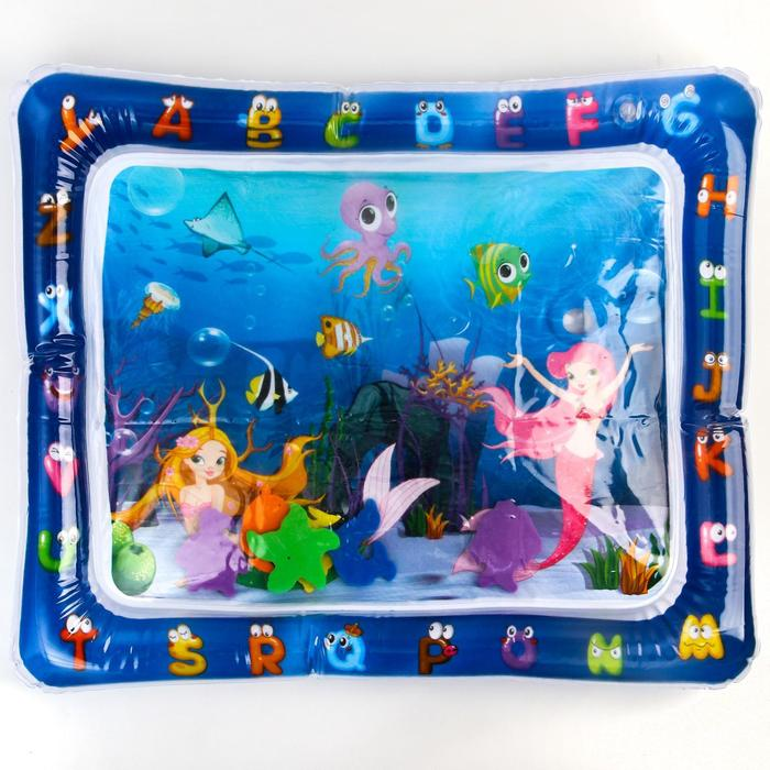 Коврик надувной для малышей «Русалочки» 58х48х8см