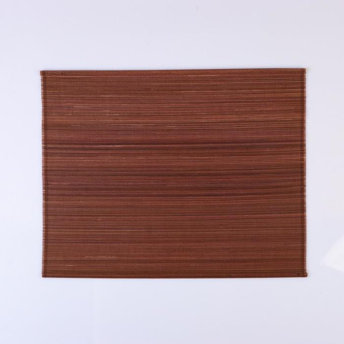 Салфетка плетеная темно-коричневая 40х30 см.(бамбук)