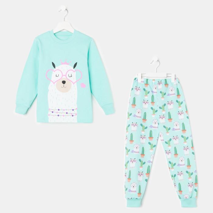 Пижама для девочки, цвет мятный, рост 92 см - фото 2026758