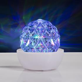 """Световой прибор """"Хрустальный шар на подставке"""", 12х12 см, 220V, RGB"""