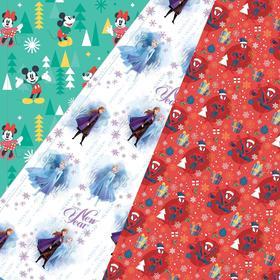 "Бумага упаковочная глянцевая  ""С новым годом!"", 70 х 100 / 50 x 70 см, Disney, МИКС 2"