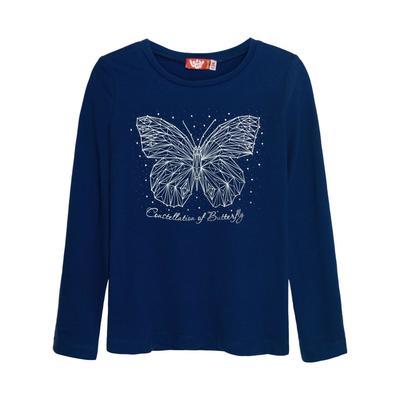 Джемпер для девочек, рост 140 см, цвет тёмно-синий