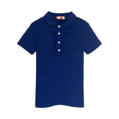 Джемпер с коротким рукавом для девочек рост 122 см, цвет синий