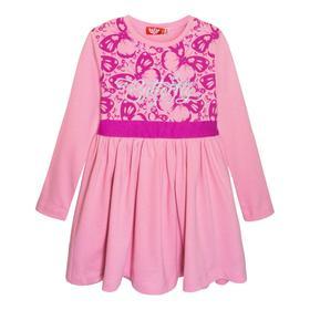Платье для девочек, рост 128 см, цвет розовый