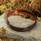 "Bracelet ""with the prayer of St. Nicholas"", narrow, copper"