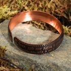 "Bracelet ""About peace of mind"", wide, copper"
