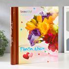 """Фотоальбом магнитный 20 листов """"Букет цветов"""" 31,5х26х2 см - фото 854253"""