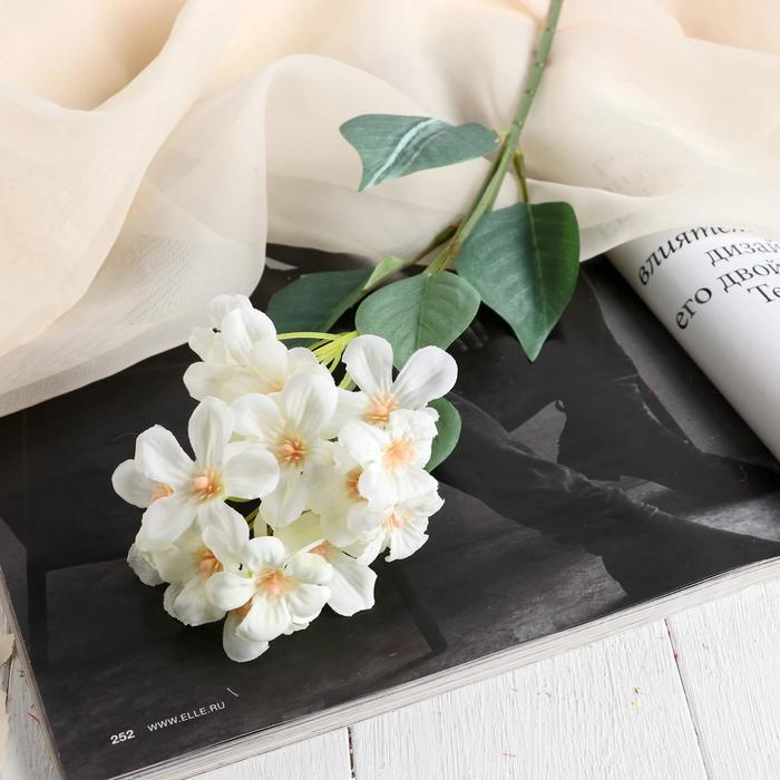 """Цветы искусственные """"Цветки Сакуры"""" 3,5х43 см, белый"""
